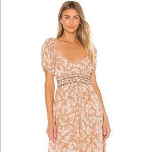 Free People Ellie Printed Maxi Dress Size XS